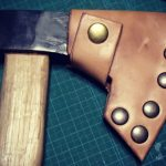 簡単レザークラフト 手斧のシース作り