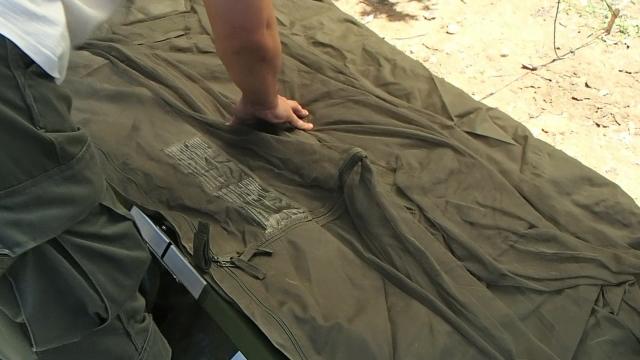 イギリス軍自立型蚊帳付きテント本体