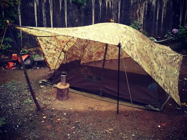 英軍蚊帳テントを単独で使うとこういう感じです