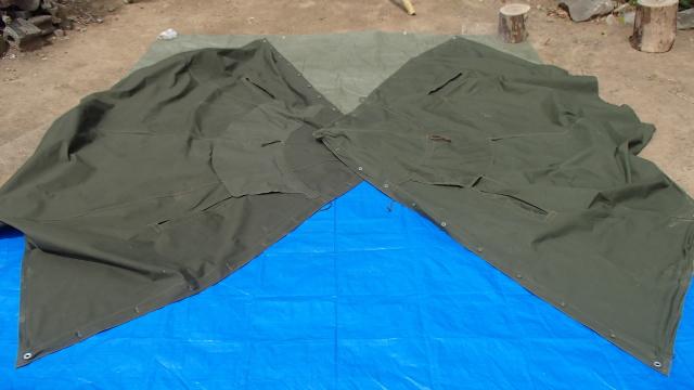 ポーランド軍テントの表側