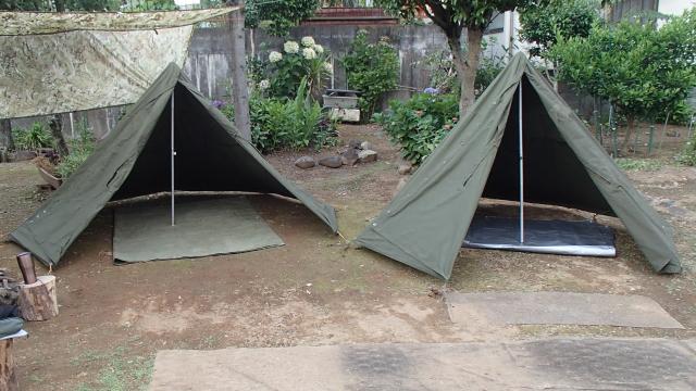 ポーランド軍テントのSサイズとLサイズ