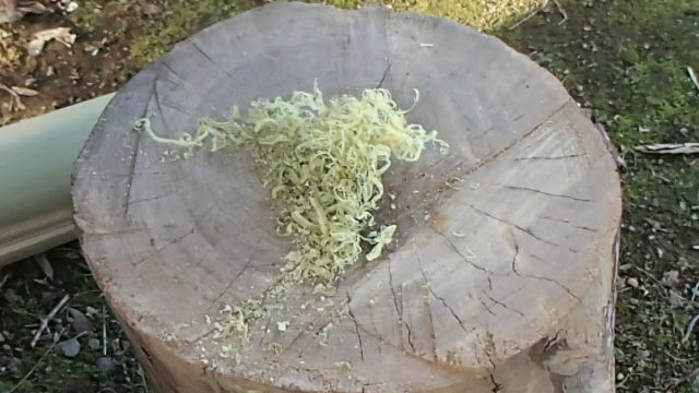 竹ティンダーの出来上がり