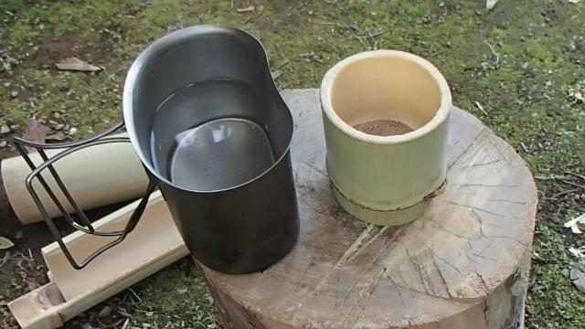 竹湯呑みとキャンティーンカップ