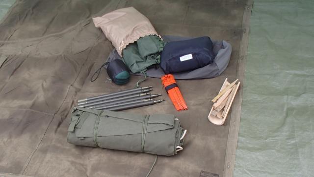 米軍パップテントや蚊帳類
