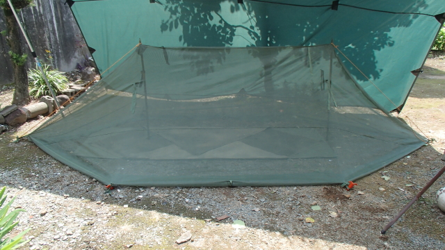 倍軍パップテントの形のモスキートネット(蚊帳)