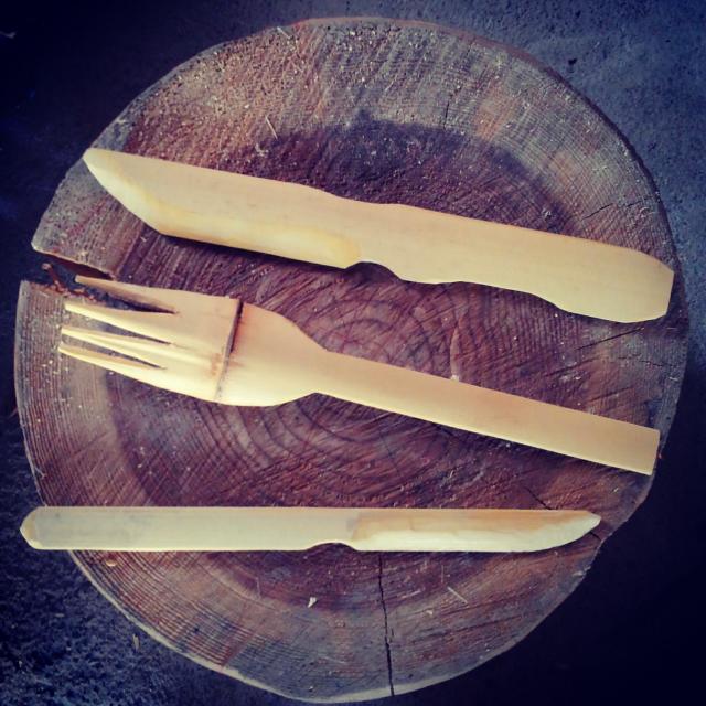 竹フォーっくと竹ナイフの完成品
