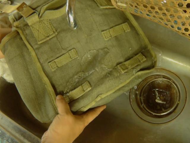 コットンバッグの防水テスト