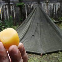 ポーランド軍テントの防水加工