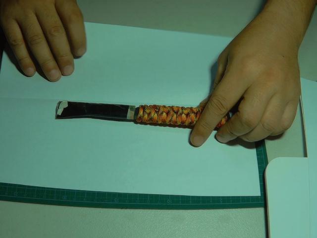 レザーシース用の型紙を作る