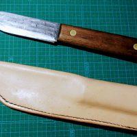 レザークラフト アウトドアナイフのナイフシースを作る