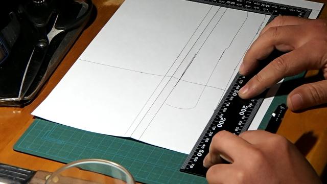 レザーシース用型紙を作る