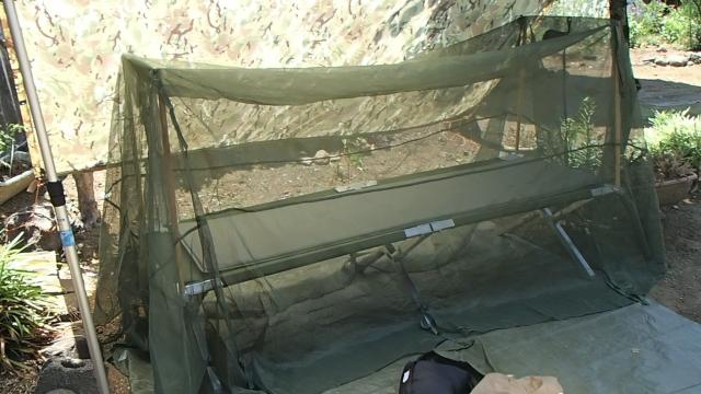 パップテント兼用蚊帳セット完了