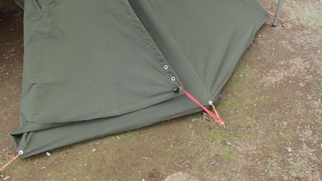 ポーランド軍テントとバンジーコード2
