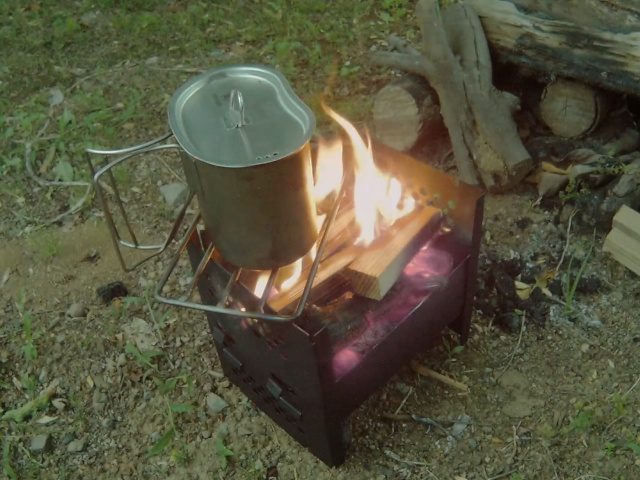 改造焚き火台燃焼テスト