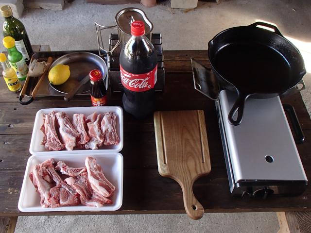 中華風スペアリブのコーラ煮の材料