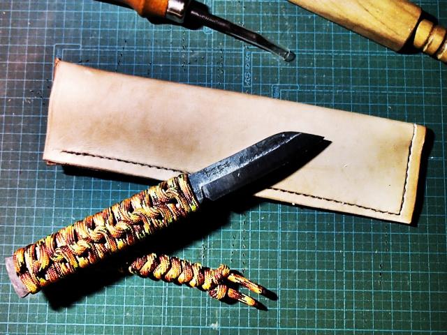 肥後守の革シースを作る