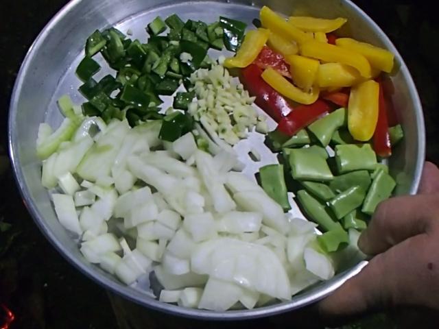 切った野菜類