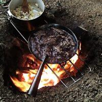 焚き火パスタ ボロネーゼの作り方