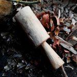 藁打ち 横槌 木槌を作る