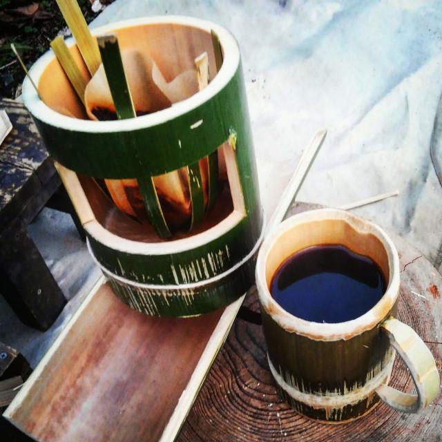 竹コーヒードリッパーの作り方