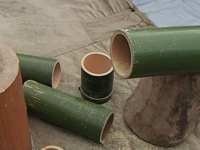 真ん中が竹コーヒードリッパー
