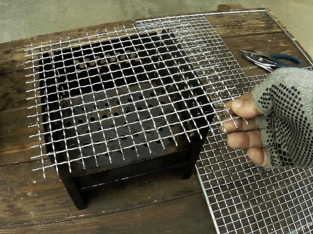 切り出した焼き網