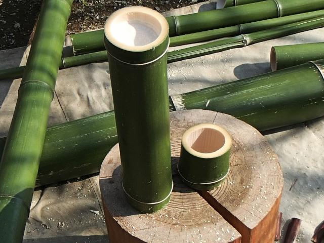 竹コップ用と竹水筒本体用